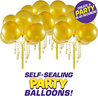 Bunch O Balloons Self-Sealing Latex Party Balloons (32 X Gold 11In Balloons) (Custom Pack)