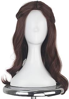 Miss U Hair Long Wavy Brown Hair Women Female Cosplay Costume Wig Party Halloween