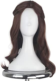 Synthetic Long Wavy Brown Hair Female Girl Princess Halloween Cosplay Costume Wig