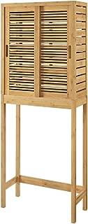 Linon Amzn0324 Finn Bamboo Bathroom Space Saver, Brown