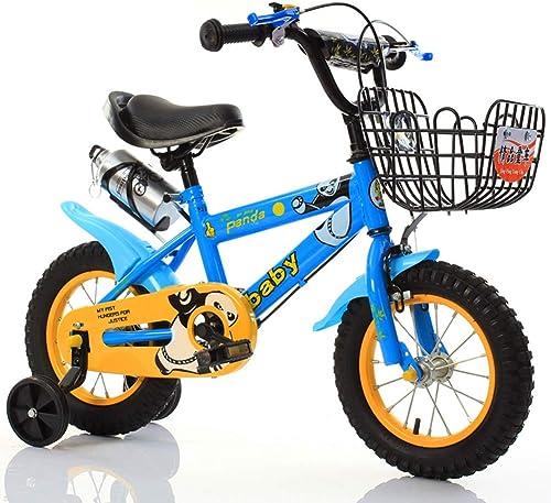 connotación de lujo discreta JYXZ Bici del Niño Bicicleta De Juguete Marco De Acero Acero Acero Al Carbono Antioxidante Guardabarros, con Sillín De Manillar Ajustable & Rueda Auxiliar Antideslizante  tienda hace compras y ventas