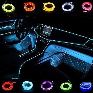 El Wires Luces de tubo de neón de 2M/6FT Tira interior de la luz del interior del automóvil Diseño avanzado de bajo consumo de energía para la separación del panel interior Decorativo(Azul hielo)