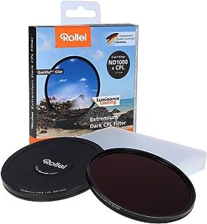 Rollei Rundfilter Extremium Dark CPL ND1000 Stopper 49 mm   Polarisationsfilter (Polfilter) und neutralem Graufilter (Neutraldichtefilter) mit Titan Ring aus Gorilla Glas   ND1000 (10 Stopps/3,0)