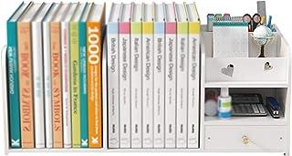 Bookshelf, Office Small Multi-layer Shelf, Storage Organizer, Desktop Bookshelf, For Bedroom Study XJJUN (Color : White, S...