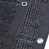 Beschattungsnetz Schwarzer Stoff, UV-beständiges, Atmungsaktives Hitzeschutznetz mit Ösen, Ideal for Die Veranda des Pergola-Patios, 90% -95% Sonnenschutz (Size : 3M×10M)