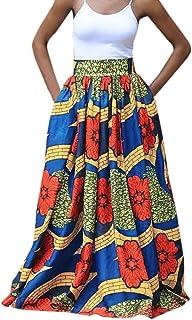 65339175776 Femmes Taille Haute Vintage Imprimé Plié Balançoire Longue Africaine Leated  Beach Jupe Robe De Soirée Décontractée