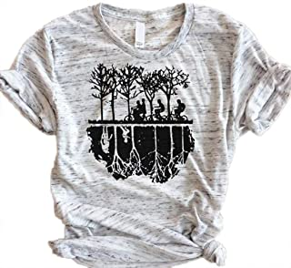 Upside Down Stranger Things Shirt Womens Novelty Graphic Tees Casual Tops