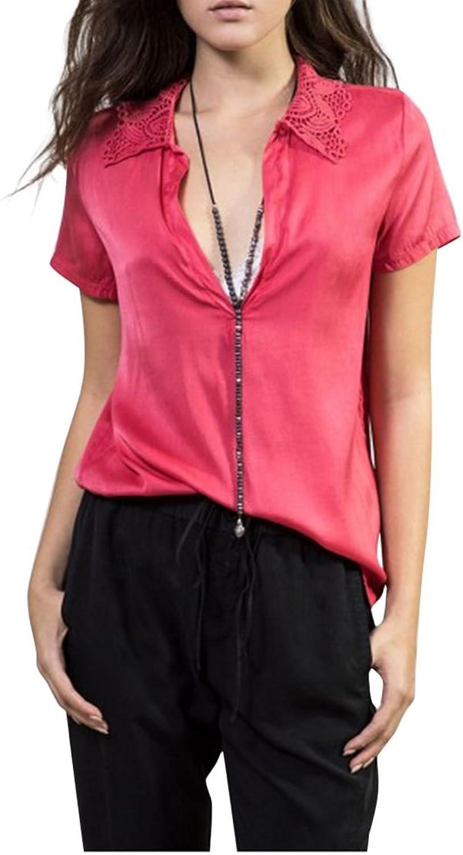 Sack's Women's Kyla Crochet Polo Shirt  Red