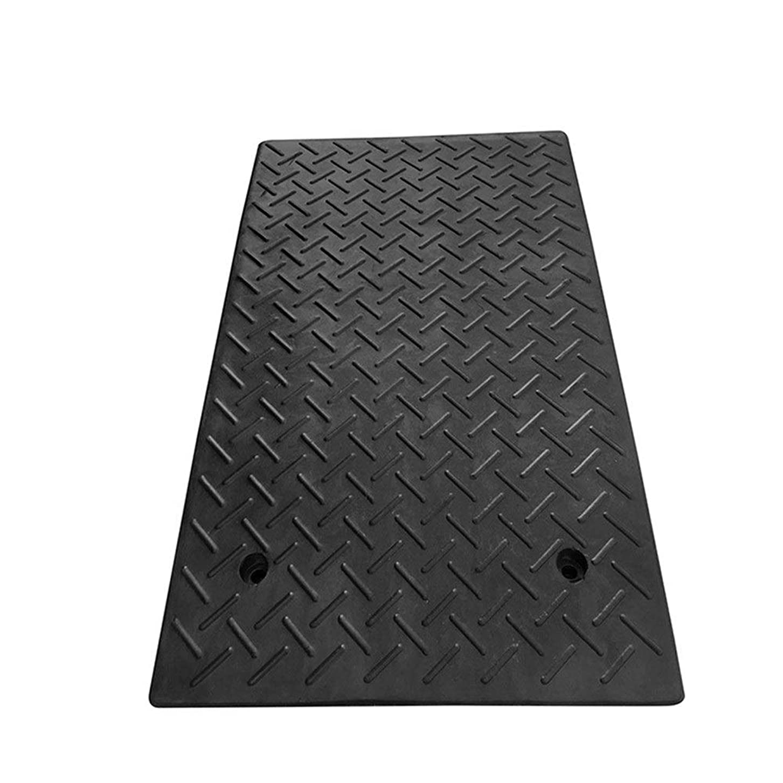 件名試みヒューマニスティック段差 スロープ 道路の傾斜の玄関マットに沿ってゴム製Vベルト速度段パッドランプスロープクッションパッド馬ロード車 段差スロープ ゴム (色 : ブラック, サイズ : 80x50x16cm)