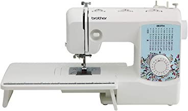 Brother Sewing and Quilting Machine, XR3774, 37 Built-in Stitches, Wide Table, 8 Included Sewing Feet,Red