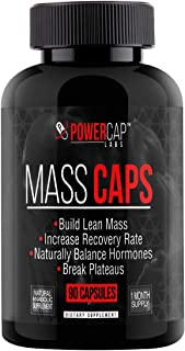 Mass Caps - Highest Quality Muscle Builder on Amazon, Build Lean Mass, Balance Hormones, Break Plateaus, with Creatine HCL, Laxogenin, HMB, L-Carnitine, 90 Vegan Capsules…