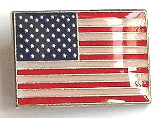 Metal esmalte de selección de fútbol de broche con forma de bandera de Estados Unidos (Estados Unidos de los Estados Unidos)