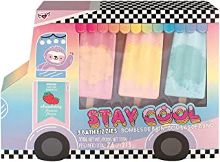 Fashion Angels Stay Cool Popsicle Bath Fizzy Set 77541, Set of 3 Popsicle Shaped Bath Bombs
