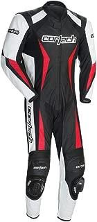 Cortech Latigo 2.0 RR Leather One Piece Suit (Large) (Black/White/RED)