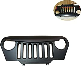 Angry Bird Grille Front Overlay Grill Lantsun Matte Black For Jeep Wrangler TJ 1997-2006(187)