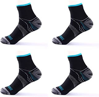 [2 Pairs] Compression Socks for Men & Women, Plantar Fasciitis Relief Foot Pain Sleeves Heel Ankle Sox, Athletic Socks for...