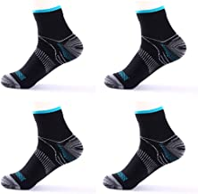[2 Pairs] Compression Socks for Men & Women, Plantar Fasciitis Relief Foot Pain Sleeves Heel Ankle Sox, Athletic Socks for Stamina Circulation & Recovery