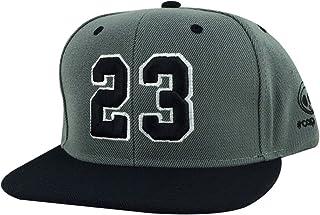 d2856eea5334b2 Number  23 Charcoal Grey Black Visor Hip Hop 2tone Snapback Hat Cap x Air  Jordan