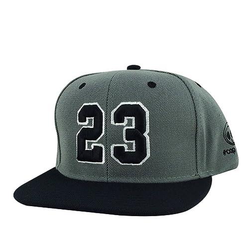 Number  23 Charcoal Grey Black Visor Hip Hop 2tone Snapback Hat Cap x Air  Jordan 780673a3a725