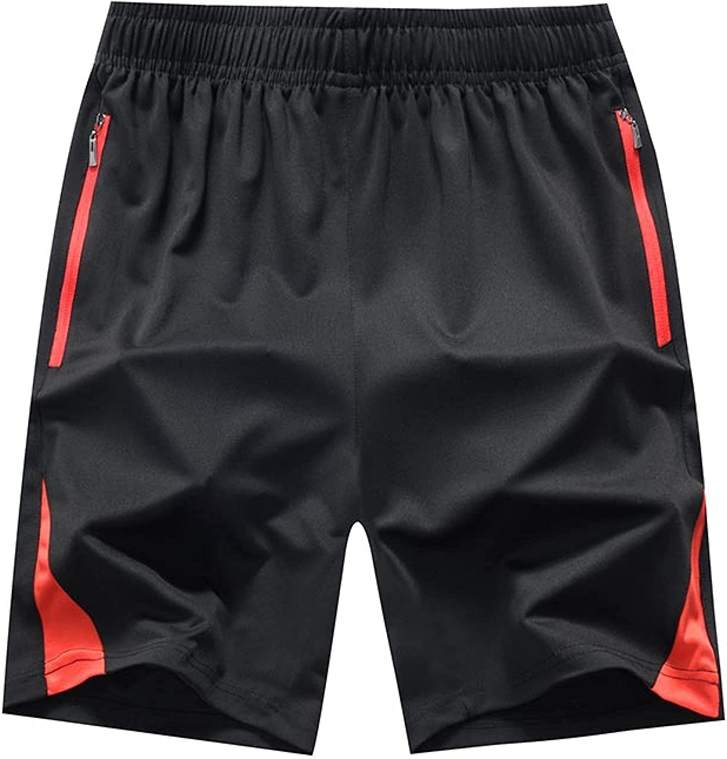 Wantess Men's Fitness Shorts Fashion Color Matching Loose Large Size Comfortable
