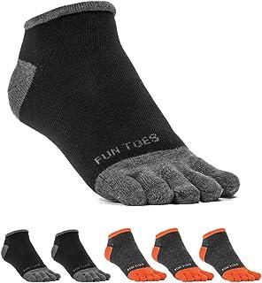 FUN TOES Men's Toe Socks Lightweight Breathable-