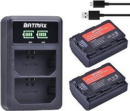 Batmax 2Packs 2280mAh NP-FZ100 NP FZ100 Battery + LED Dual USB Charger for Sony NP-FZ100, BC-QZ1,Sony a6600, a9, a7R III, ...