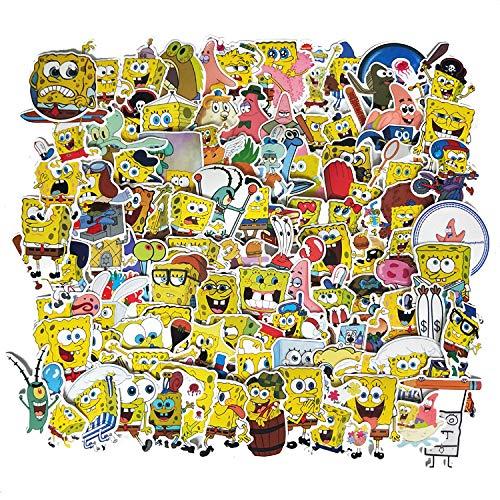HUNSHA 100 dibujos animados esponja pescado bebé piña casa estrellas de mar pegatinas equipaje personalizado cuaderno decoración coche pegatinas