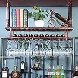 botellero vino Botellero para Vinos de Hierro Forjado para Mostrador de Bar, Gabinete de Pared para Bar de Restaurante, Soporte para Vino de Caja Registradora, Estante para Almacenamiento de Vino Colg