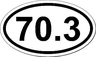 I Make Decals® - 70.3 Half Ironman, Triathlon, Run car bumper window sticker 3 x 5 inch, Euro Oval - runner, running, race, marathon, vinyl Sticker Decal