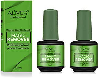 2Pack Magic Nail Polish Remover, Professional Easily & Quickly Removes Soak-Off Gel Nail Polish in 3-5 Minutes, Don't Hurt Nails