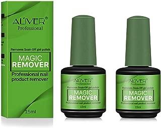 2 Pack Magic Nail Polish Remover, Easily & Quickly Removes Soak-Off Gel Nail Polish, Don't Hurt Nails