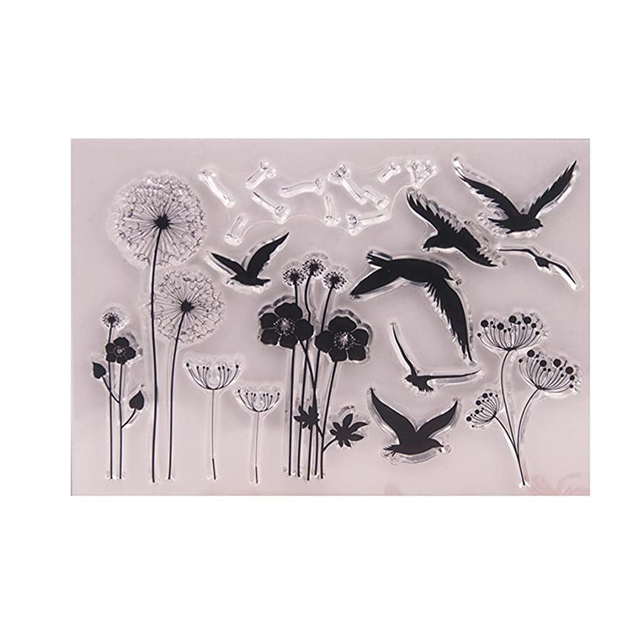 Clear Stamp-Dandelion Clear Silicone Seal Stamps For DIY Album Scrapbooking Photo Card Aircraft Decor-for Home Decoration-for Gift Decoration Sample 9