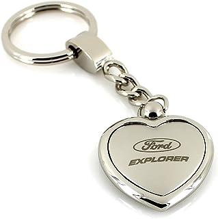 Ford Explorer Satin/Chrom zwei Ton Herz Form Schlüsselanhänger