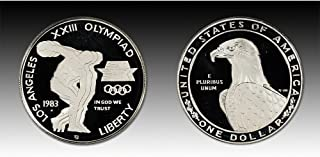 1983 S US Mint Olympic Commemorative Proof Silver Dollar $1 DCAM US Mint