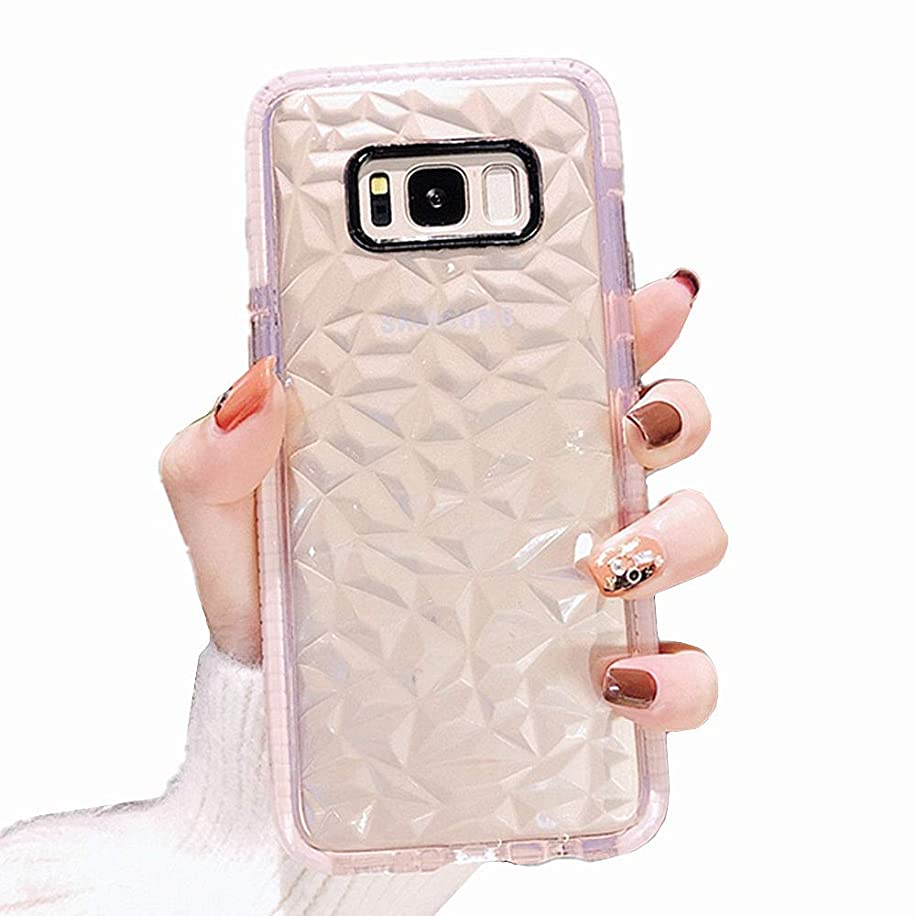Galaxy S8 Plus Case,Ultra Hybrid Clear Case with Air Cushion Technology Drop Protection,Soft Silicone Rubber Bumper Full Protective Cases Cover Compatible for Samsung Galaxy S8 - Pink