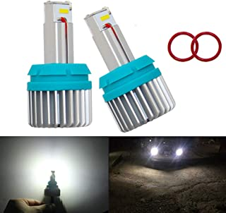 1156 Led Bulbs for Backup Reverse Lights Error Free Canbus Built in Resistor 2400LM Extremely Bright CSP 9-SMD Plug and Play 6500K White 2pc 1141 1003 BA15S 7506 Led bulb (7506/1156 Back-up Lights)
