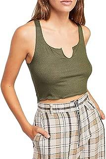 Pure Color V-Neck Camisole Sexy Pit Slim Fit Vest Open-Bottomed Tank Top Elegant Blouse