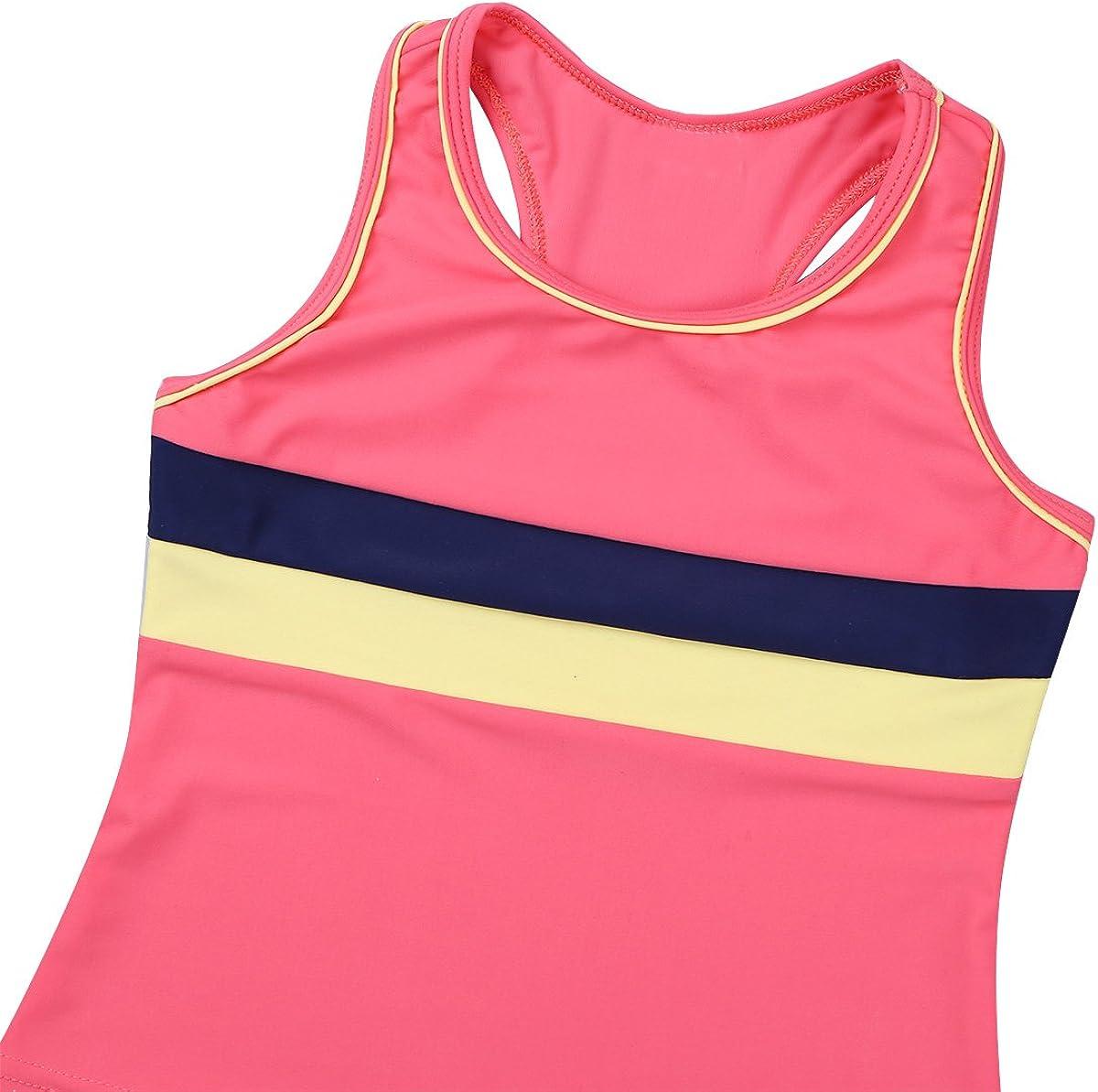 iEFiEL Boys Girls Two Piece Swimsuit Swimwear Racerback Tank Tops Vest with Shorts Bottoms Bathing Suit Swim Costumes