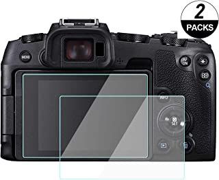 WH1916 Glass for Canon EOS RP Mirrorless Camera, Camera LCD Screen Protector Tempered Glass Accessories (2 Pack)