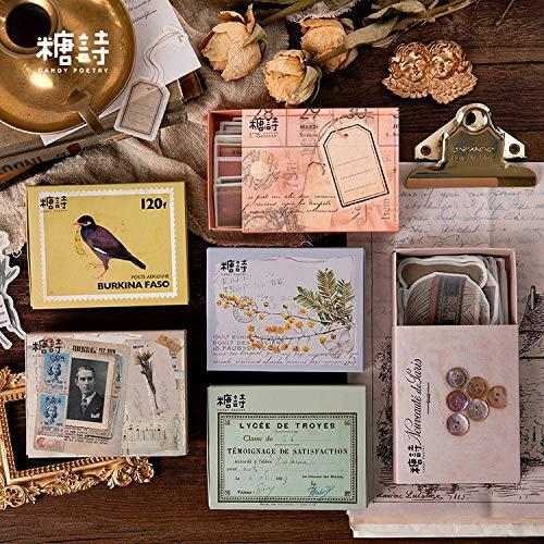 Vintage Objekte Bullet Journal dekorative Aufkleber Scrapbooking Stick Label Tagebuch Briefpapier Album Matchbox Aufkleber80pcs / Set
