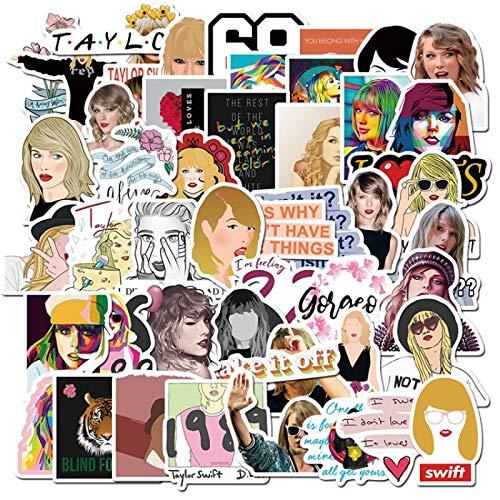 WYZN 50 pz Taylor Singer Swift Sticker Personalità Creativa Fai Da Te Bambini Scrapbook Decorazione Notebook Computer Impermeabile Scooter Vinile Adolescente Vsco Graffiti Sticker Decal