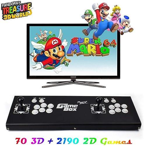 Home Arcade Konsole, 2260 Classic-Spiele JoyStück Spielkonsole, Kundenbezogene Schaltfl en, 1920x1080 Full HD, Unterstützt PS3, pielcontroller, HDMI und VGA Ausgang