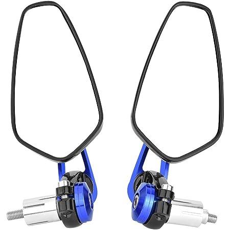 1 Paar Motorrad Rückspiegel 7 8 Zoll 22mm Lenkerklemmung Verstellbare Lenkerendseite Rückspiegel Blau Auto