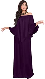 Womens Strapless Shoulderless Flattering Cocktail Gown Maxi Dress