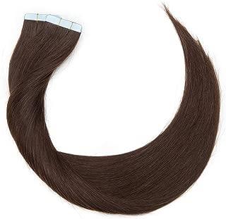 Extensiones Adhesivas de Cabello Natural Pelo Natural Humano Balayage sin Clip Tape in 100% Human Hair Lisa [ 3g * 20 Piezas] 16