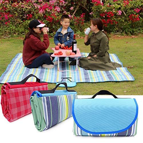 PLOK 200x200/200x150/150x100cm al aire libre portátil verano playa Mat Picnic manta impermeable manta a cuadros multijugador camping Mat