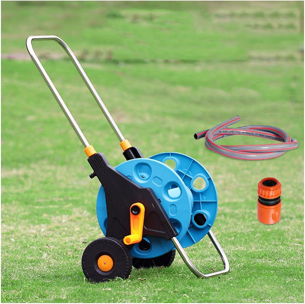 LOVE-HOME Garden Hose Reel Cart with 2 Out Wheels Duty Nippon regular agency Heavy and Max 86% OFF