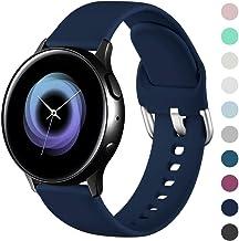 Wepro Correa Compatible con Samsung Galaxy Watch Active/Active2 40mm 44mm, Correa de Repuesto de Silicona Suave para Samsung Galaxy Watch 42mm/Gear S2 Classic/Gear Sport, Pequeño Grande
