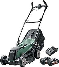 Bosch 06008B9B72 Cordless Lawnmower EasyRotak 36-550 (36 Volt, 2 x Battery 2.0 Ah , Cutting Width: 37 cm, Lawns up to 550 ...