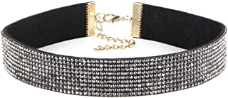 Wensltd Clearance!1 PCS Women's Elegant Crystal Choker Necklace Diamond (Black)